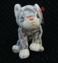 Ty Beanie Baby Silver the Gray Stripe Cat USED - $6.92