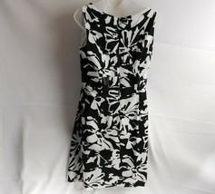 R & K Originals Womens Dress Size 10  Black White Sleeveless Lined Top L... - $13.36