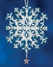 Star Crystal snowflake charmed ornament 2012 beaded ornament kit Mill Hill - $6.30