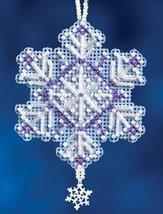 Amethyst Crystal snowflake charmed ornament 2012 beaded ornament kit Mill Hill - $6.30