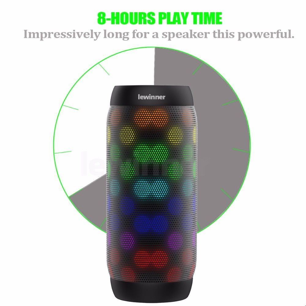Bluetooth Speaker BQ-615 Wireless Super Bass Mini Speaker with Flashing LightsFM