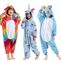 New Winter Kids Kigurumi Cosplay Costume Unicorn Pajamas party Animal Sl... - $21.27