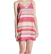 """CeCe Cynthia Steffe Sweeney Tulip Strappy Stripe """"Petal Pop"""" Pink Dress - $34.94"""