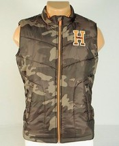 Tommy Hilfiger Zip Front Green Camouflage Insulated Winter Vest Youth Bo... - $52.49