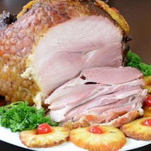 Smoked Hickory Berkshire Ham, Bone-in - 2 x 1 piece, 19 lbs - $357.10