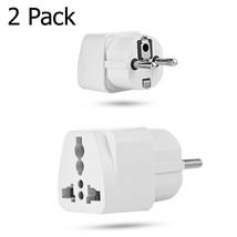 Portable UK US AU to EU European 2PIN Power Socket Plug Adapter Travel C... - $108,00 MXN