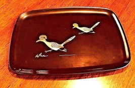 COUROC Road Runner tray Blck/Brwn Inlaid Shell Monterey CA MCM Plastic - $23.06