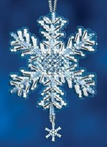 Ice Crystal snowflake charmed ornament 2012 beaded ornament kit Mill Hill - $6.30