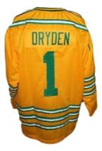 Dave Dryden #1 Chicago Cougars Retro Hockey Jersey New Yellow Any Size image 2