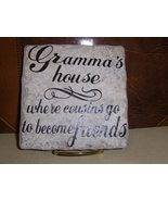 Grandma' s house ceramic tile with stand  - $13.00