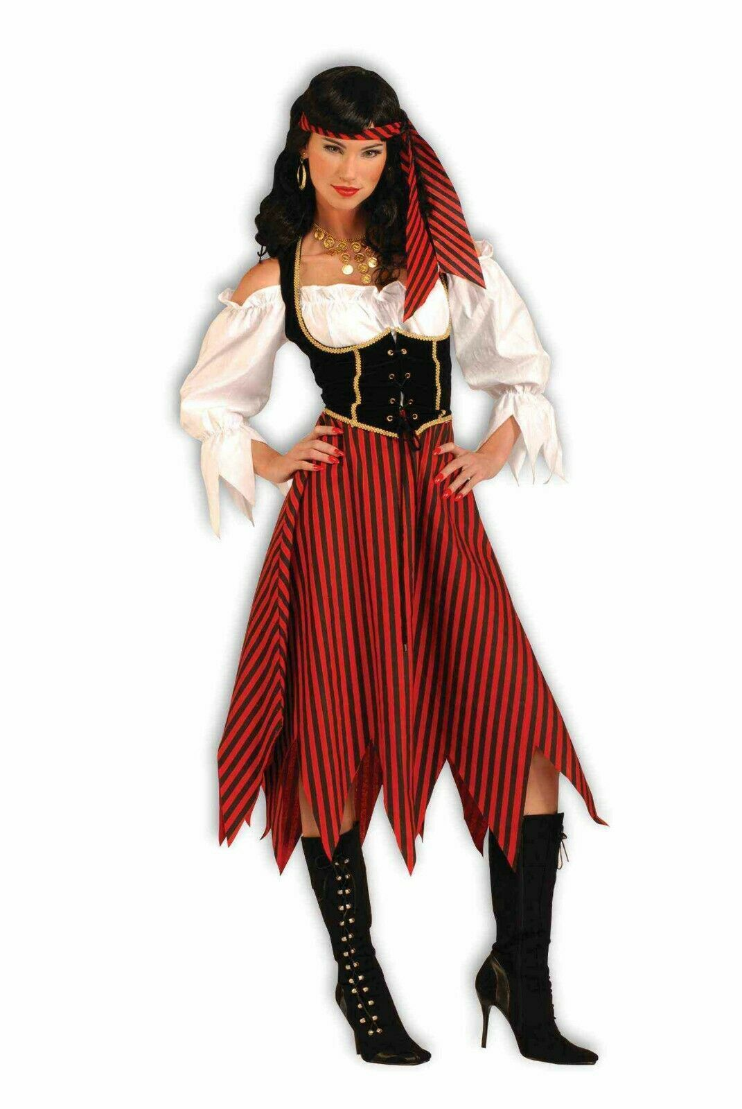 Forum Piraten Maiden Seeräuber Übergröße Erwachsene Damen Halloween Kostüm 61199