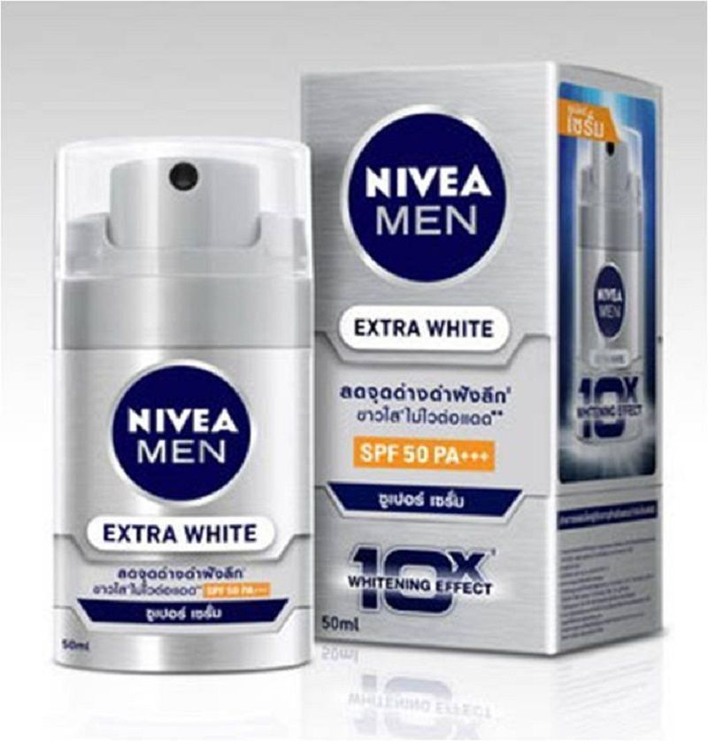 Primary image for NIVEA Men Extra White Super Serum Men Face Care SPF 50 For Normal-Oily Skin 50ml