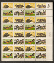 Natural History Issue, Sheet of 6 cent stamps, ... - $7.00