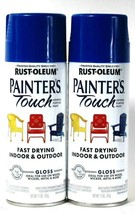 2 Rust-Oleum 11 Oz Painter's Touch General Purpose 318631 Gloss Dark Blu... - $20.99
