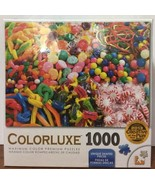 Colorluxe 1000 Piece Puzzle Candy Mania Unique Shaped Pieces (NEW) - $13.81