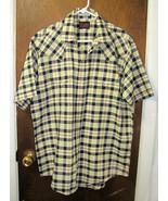 Men's Plains Western Pearl Snap Shirt Size LARGE  - $9.99