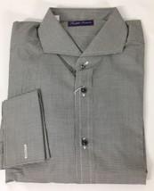 Ralph Lauren Purple Label Mens Dress Shirt 16 Black White Cotton Long Ke... - $236.16