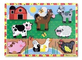 Melissa & Doug Farm Wooden Chunky Puzzle (8 pcs) Farm Animals Age 2+ - $16.29