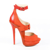 Jimmy Choo Letitia Suede Platform Sandals SZ 40 - $212.00
