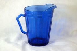 "Hazel Atlas Aurora Cobalt Blue Creamer 8 oz. 4 1/4"" - $8.31"