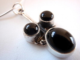 New Black Onyx Sterling Silver Pendant Handmade India - $9.89