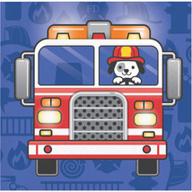 Flaming Fire Truck 2 Ply Beverage Napkin, Case of 192 - $36.76
