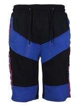 LR Men's Urban Streetwear Cotton Striped Casual Gym Drawstring Sweat Shorts image 2