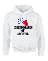 Adult Hoodie United States Of Alcohol 4th Of July Top - $23.94+