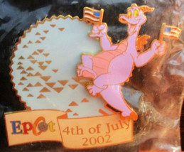"NEW Disney Epcot Figment Pin ""Epcot 4th of July 2002"" - $9.90"