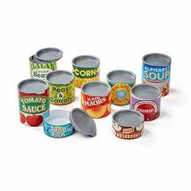 Melissa & Doug Let's Play House! Grocery Cans, Pretend Play, Pop-Off Lids, Sturd - $9.99