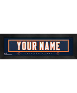 """Personalized Chicago Bears Stitched Team Jersey 8"""" x 24"""" Framed Print - $38.50"""