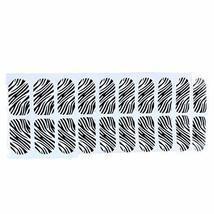 [Set of 2]Easily Apply 12 PCS Salon Artificial Nail Polish Sticker, Zebra-Stripe