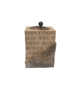 Rock Of Ages Tealight Holder, My Words Will..., by Seagull, New In Box - $16.99