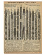 Pens Fountain Pen AD 1914 Pen 12 Styles Original Period Sears 1914 Catal... - $19.99