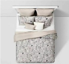 SEALED/ NEW  Queen Leah Floral 8pc Bed Set Neutral  image 2
