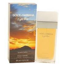 Light Blue Sunset In Salina Perfume By Dolce & Gabbana 3.4 oz Eau De Toilette Sp - $97.26