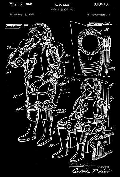 Primary image for 1962 - Mobile Space Suit #2 - C. P. Lent - Patent Art Poster