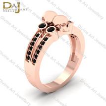 0.35cttw Black Diamond Witchy Skull Gothic Engagement Ring Unisex Skull ... - €769,57 EUR