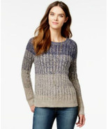 Lucky Brand Jeans Long Sleeve Marled Ombre Pullover Sweater Blue Navy Mu... - $41.99