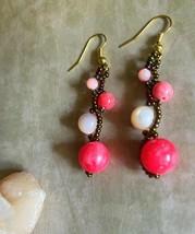 Pink planet earrings - $12.00