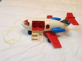 Fisher Price Little People Airplane Plane 1972 Vintage Toy Fun Jet 183 - $28.71