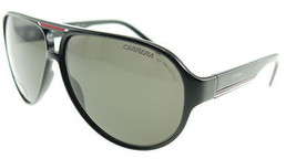 Carrera 12 Shiny Black Red / Grey Sunglasses 12/S D28 - $97.51