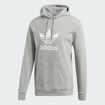 Adidas Originals Men's Trefoil Pullover Hoodie NEW AUTHENTIC Grey Heathe... - $64.99