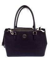 New Dkny Women Bryant Park Saffiano Leather Large Satchel Bag Black - $261.35