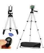 Phone Tripod Camera Holder Cell Phone Mount Bluetooth Remote Control Stand - $28.47