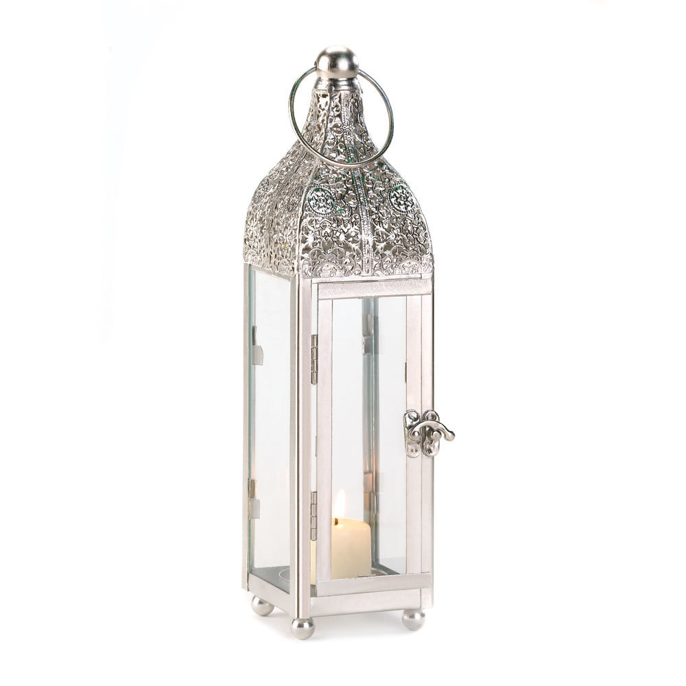Polished Metal Candle Lantern 10015272
