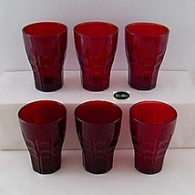 Royal Ruby High Point 4 1/4 in. Water Tumblers Set of 6 - Anchor Hocking - $29.95
