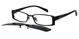 EBE Mens Womens Clip On Glasses Frames Shades sc3099-black - $19.78+