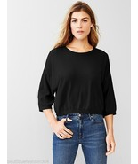 New NWT Womens M Medium Gap Black Sweater Crop 3/4 Sleeve School Work Ca... - $68.00