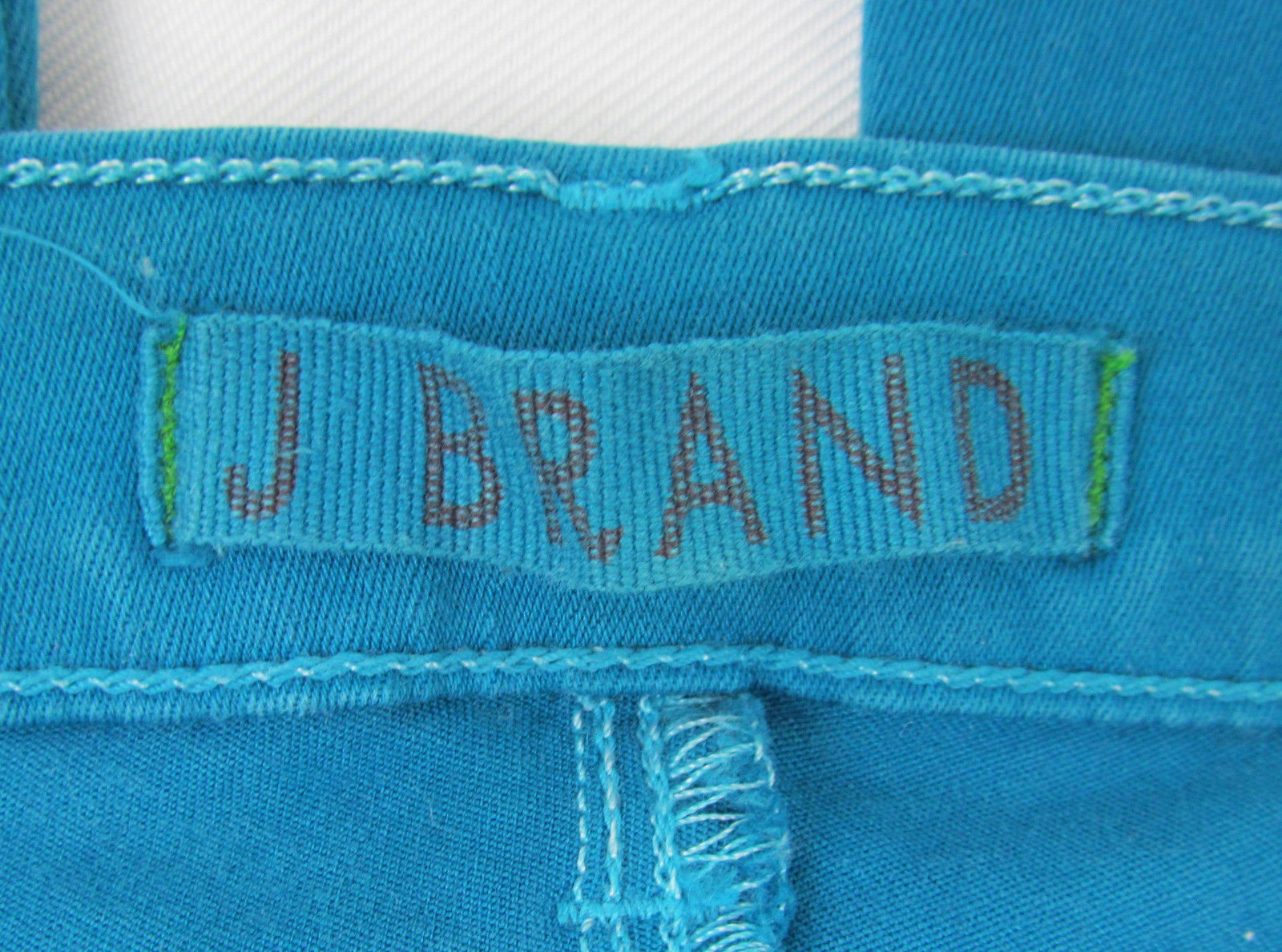 J Brand jeans Azure Ankle Skinny Zipper cuffs USA Made Teal Womens Size 25 image 8